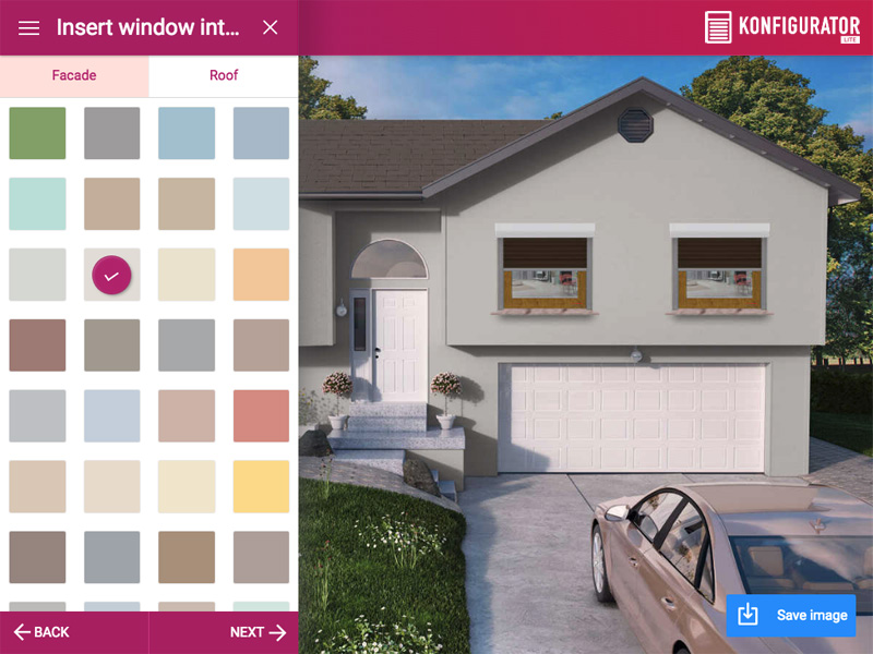 Choosing the facade and roof color